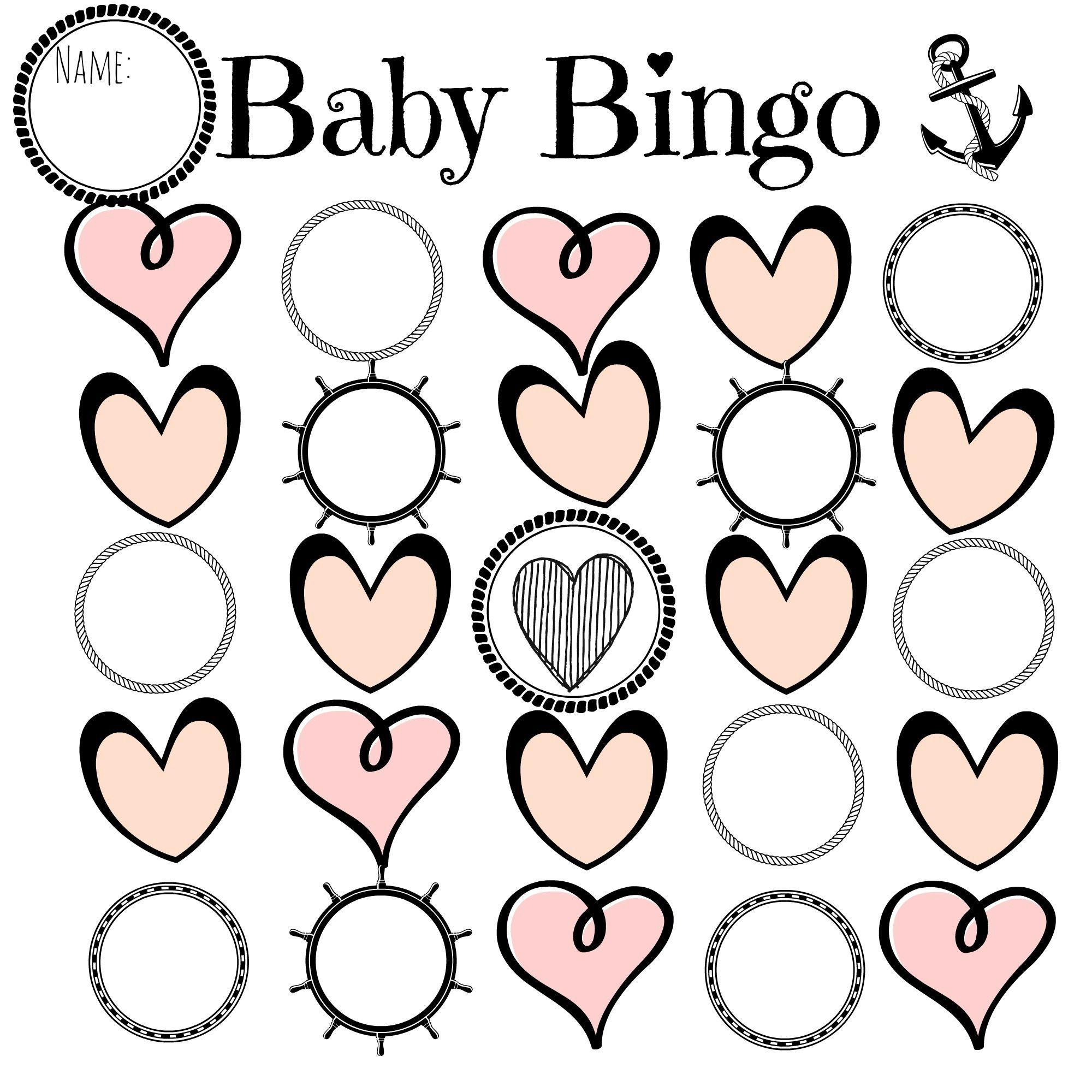Nautical Baby Bingo Template
