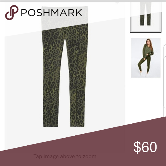 b2400ef35f24d2 Green leopard Ultimate leggings featuring body wicking material to keep you  dry and a pocket for your accessories. SOLD OUT PINK Victoria's Secret ...
