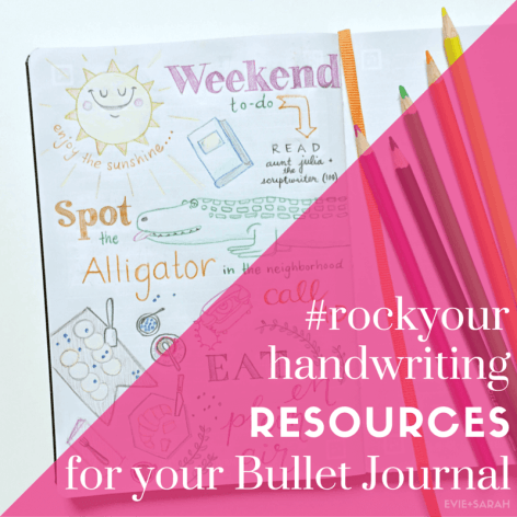 An epic roundup of #rockyourhandwriting Resources for your Bullet Journal