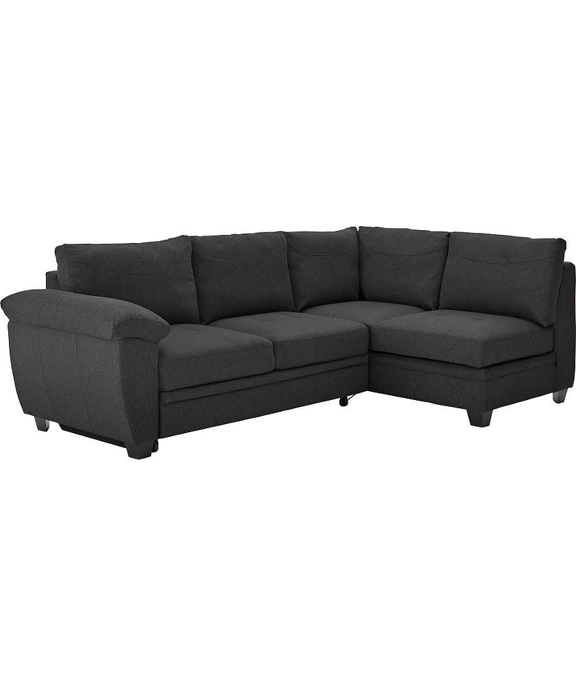 scs leather corner sofa bed throws for sofas argos living room furniture ...
