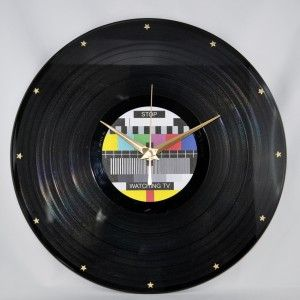 Horloge Disque Vinyle DiscOclock Mire Tl Stop