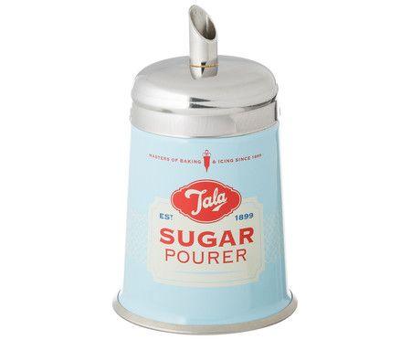 zuckerstreuer sugar sweet silber