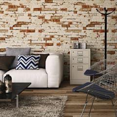 Paredes y pisos de estilo rústico por INTERAZULEJO