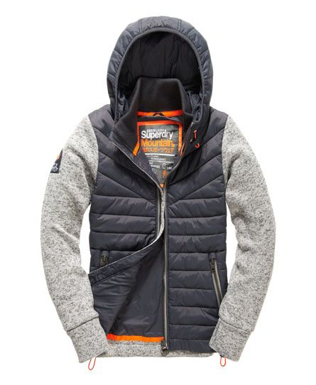 Superdry Womens Storm Hybrid Zip Hoodie Navy *SAME DAY DISPATCH*