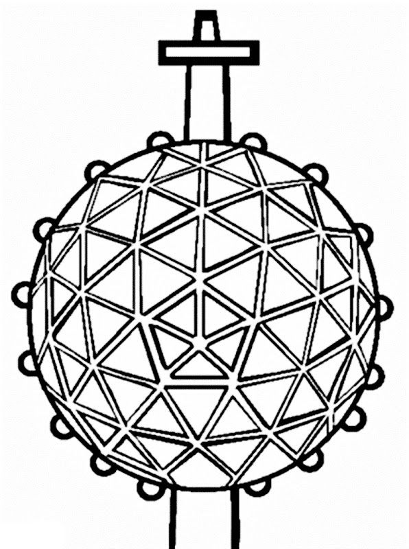 Images New Year Ball Drop Coloring Pages New Year Coloring Pages