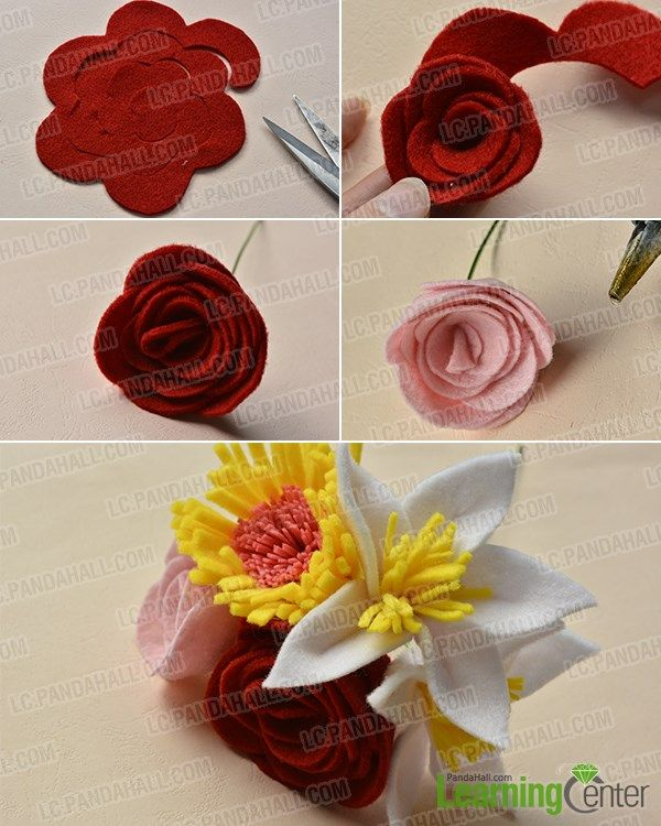 Are you interested in felt flower bouquet? If yes, you must be ...