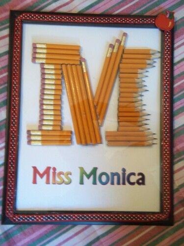 Teacher gift letter m gifts Pinterest - gift letters