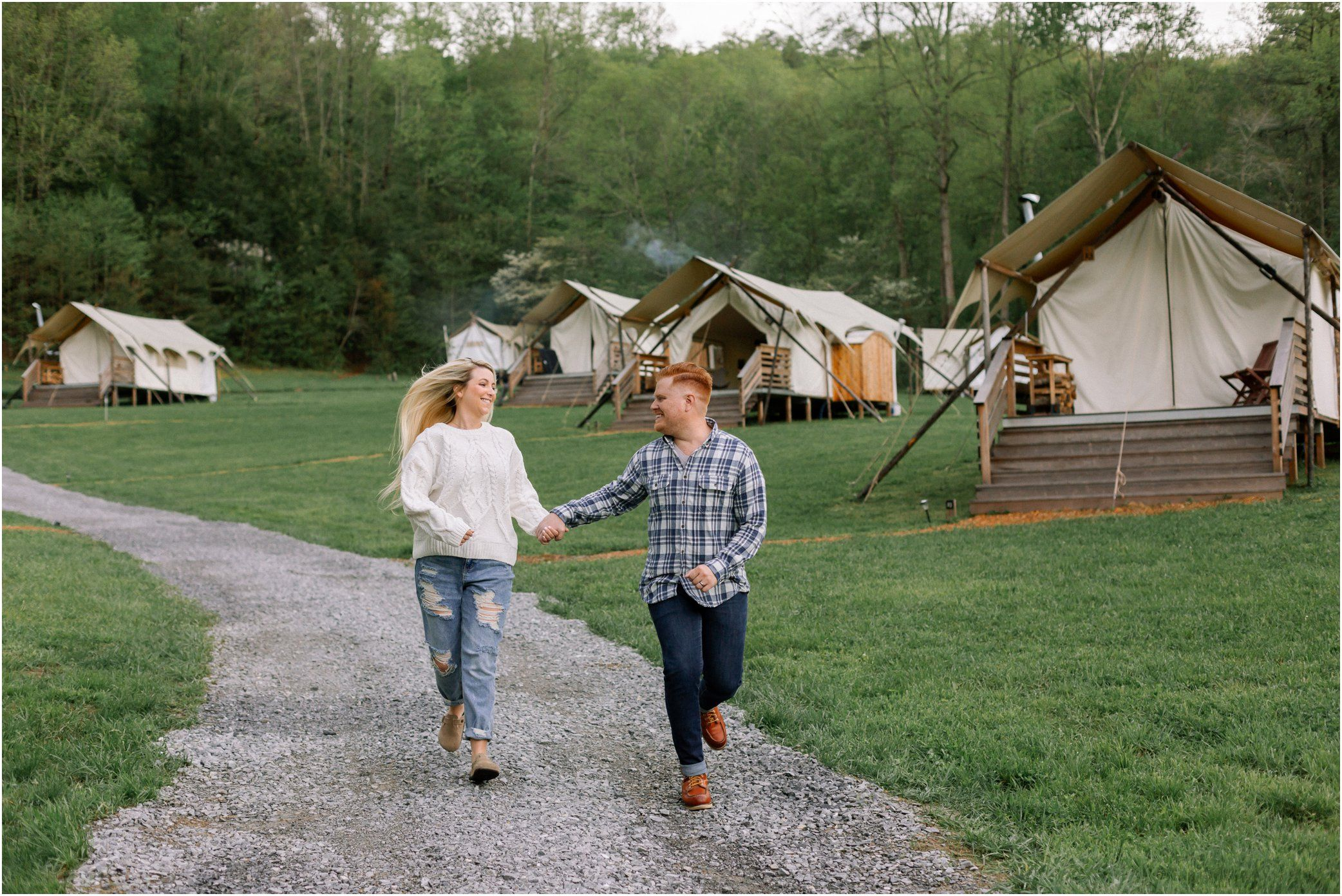 Outdoor glamping photos in the Great Smoky Mountains for ...