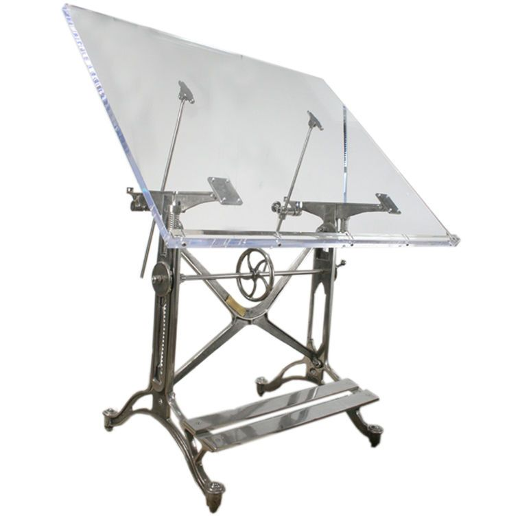 Nice Antique Acrylic Drafting Table