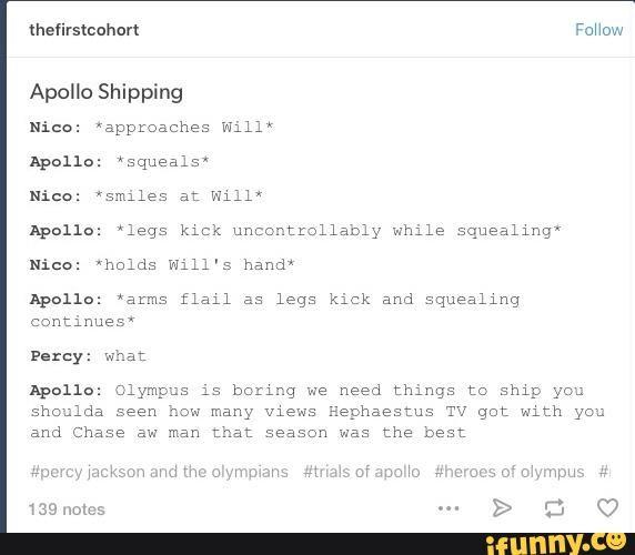 Apollo Solangelo Percabeth Apollo S Reaction In This Was