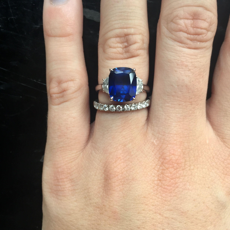 Alexandra 4ct Sapphire Half Moon Engagement Ring Engagement Rings Sapphire Aquamarine Engagement Ring Blue Engagement Ring Aquamarines