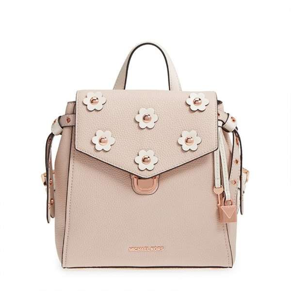 6947ce9f6087b3 MK Bristol Small Floral Applique Leather Backpack - Best Buy Bags Online
