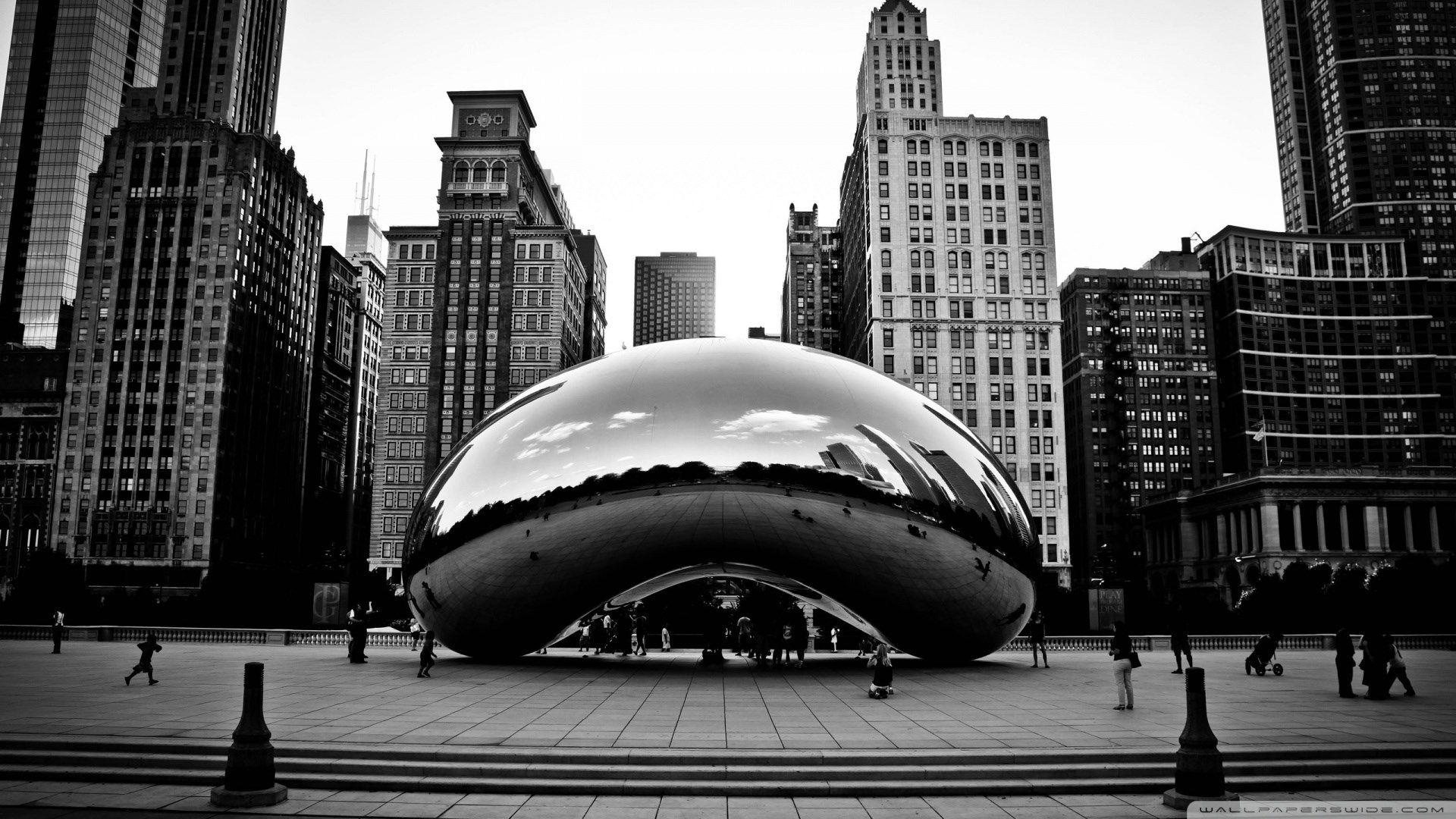 Black White Chicago Wallpaper Chicago Wallpaper Chicago