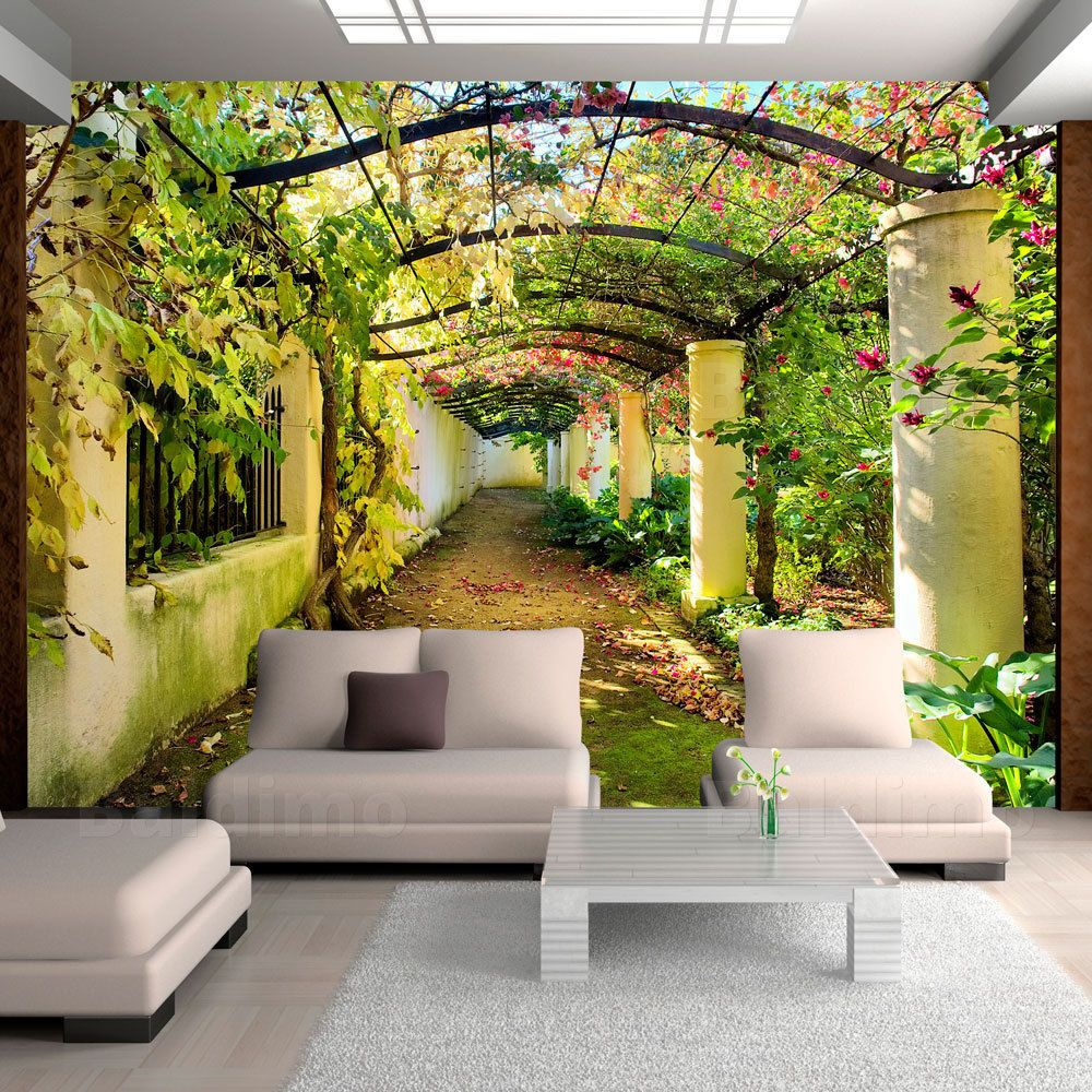 fototapete natur laubengang pergola vlies tapeten wandbilder xxl 10110903 18 tropical themes. Black Bedroom Furniture Sets. Home Design Ideas