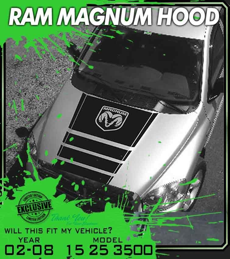 RAM DV9 2002 2008 Dodge Ram Truck Hood Stripe 1500 2500