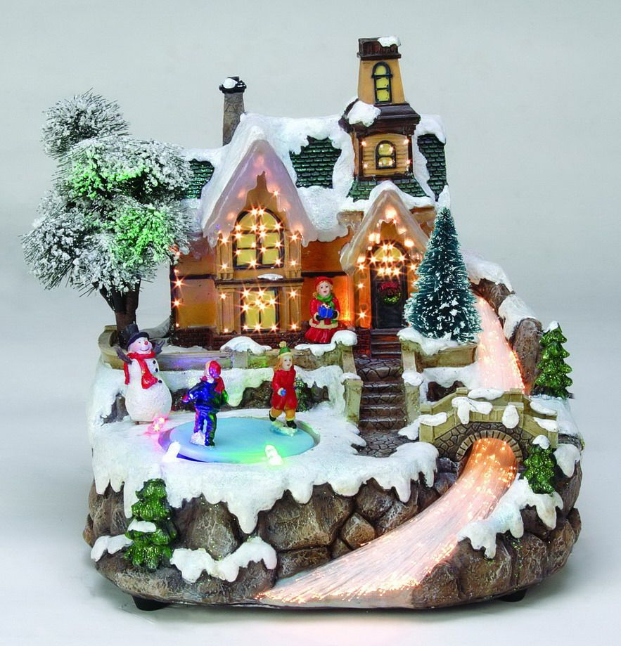 Fiber Optic And Led Christmas Village Christmas