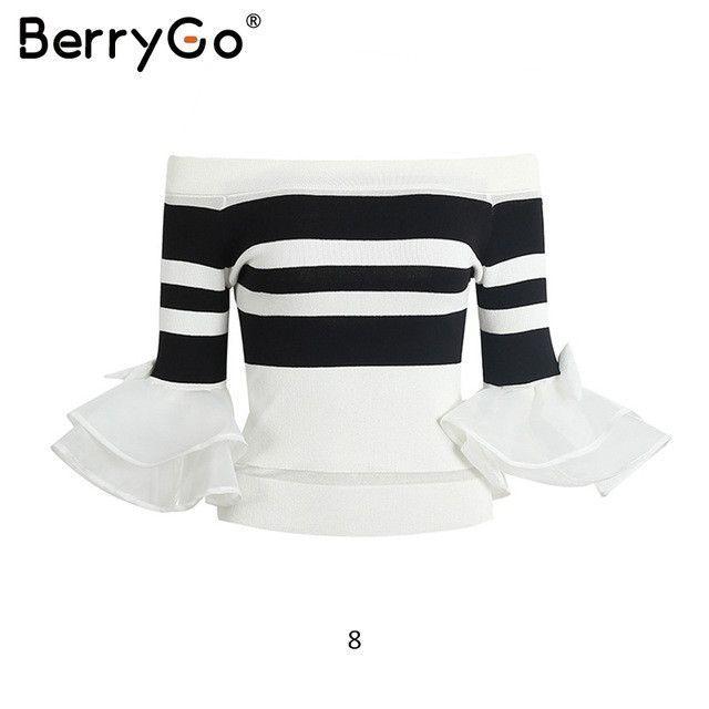 BerryGo Fluffy long sleeve knitted sweater women jumper 2017 pull ...