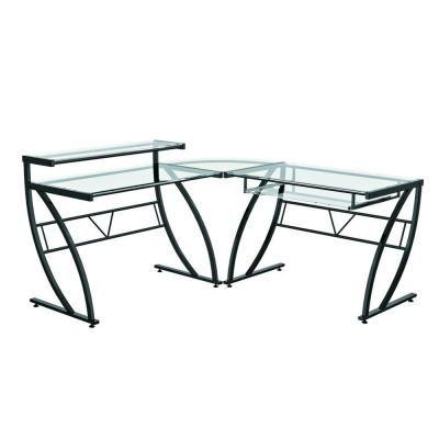 Z Line Designs Black Desk Zl1441 1du The Home Depot L Shaped Glass Desk Modern Glass Desk Glass Computer Desks