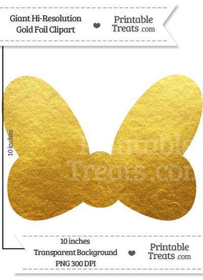 Minnie mouse gold. Foil giant bow clipart