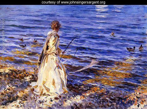 Girl Fishing.     John Singer Sargent