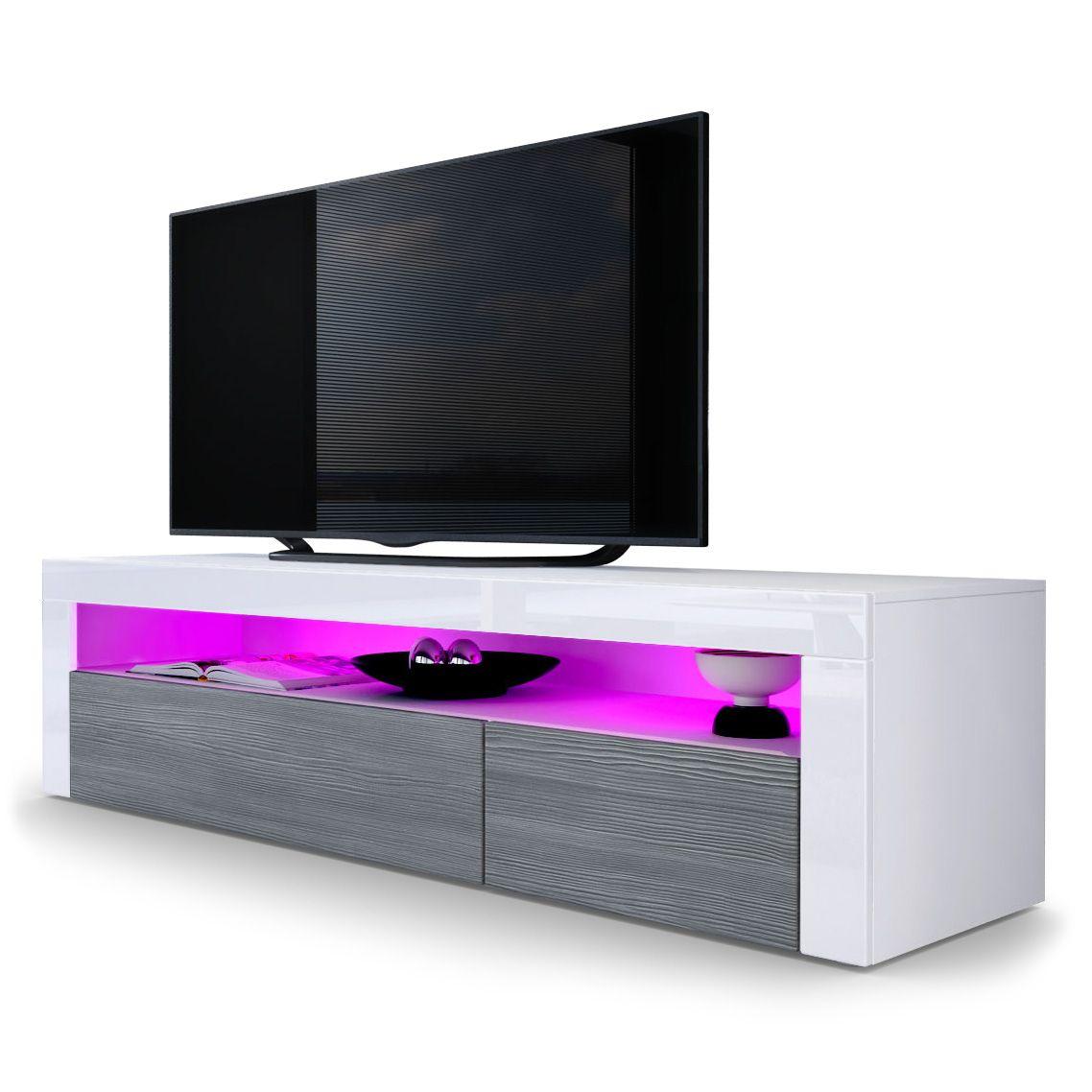 Valencia Tv Board Mit Optinaler Led Beleuchtung Von Vladon De Wohnzimmer Tv Ikea Wohnzimmer Wohnzimmer Tv Wand Ideen