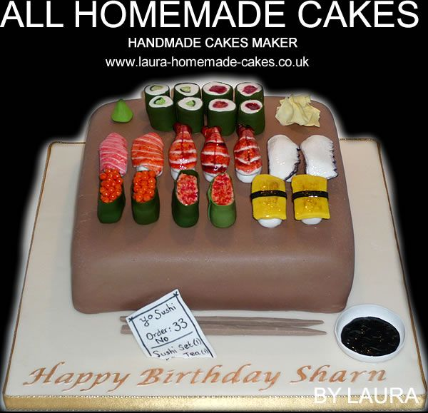 Sushi Cake Various Cakes Pinterest Birthday Cakes Delivered