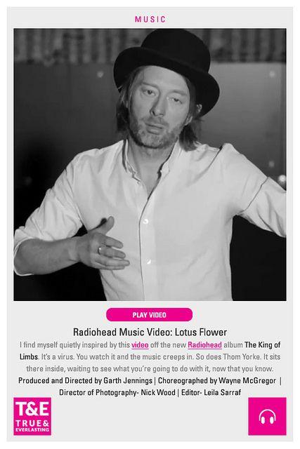 Music Radiohead Lotus Flower True And Everlasting Radiohead