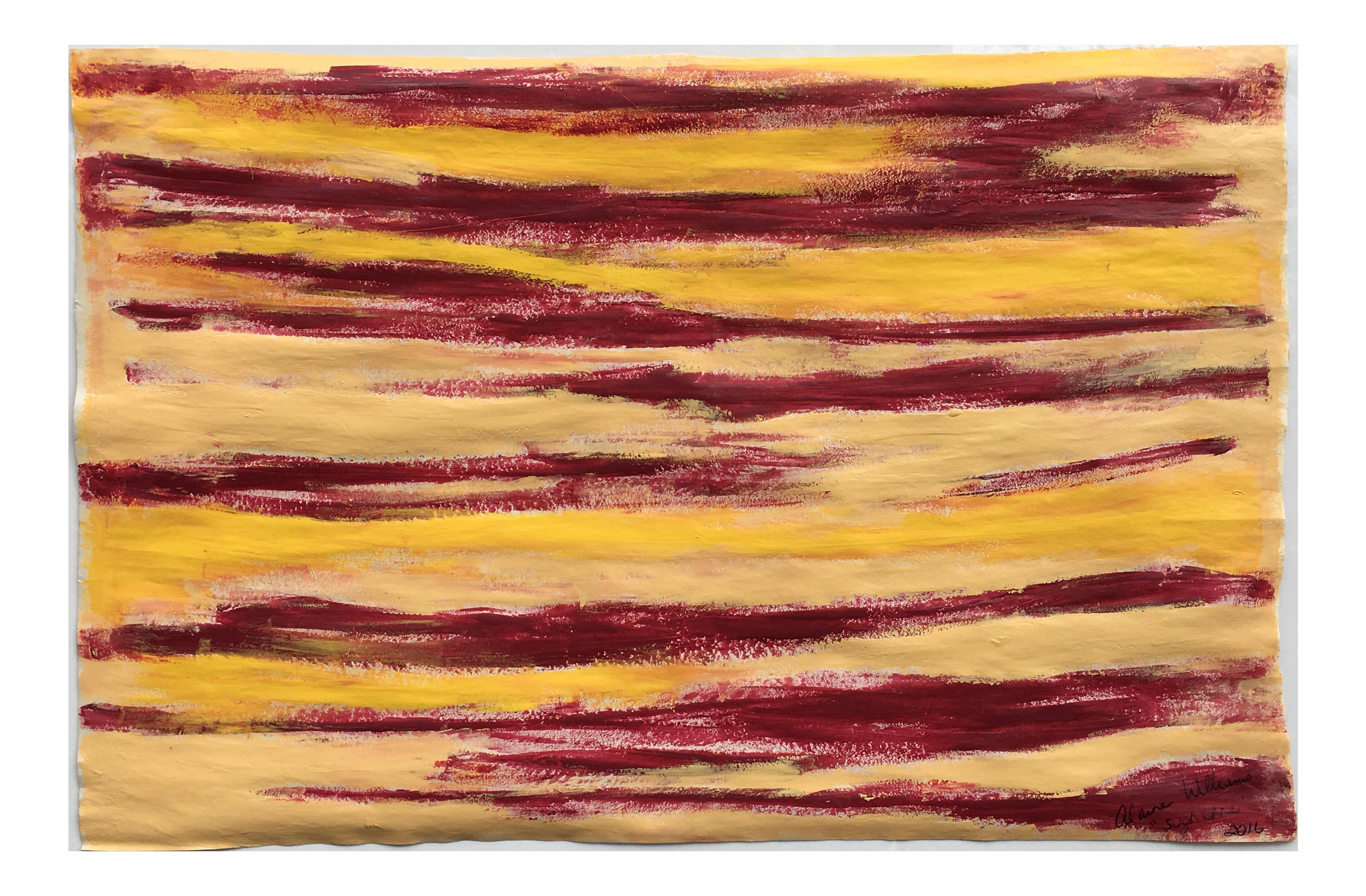 Suga Lane Abstract Red Yellow Streak Painting Abstract Red Yellow Painting