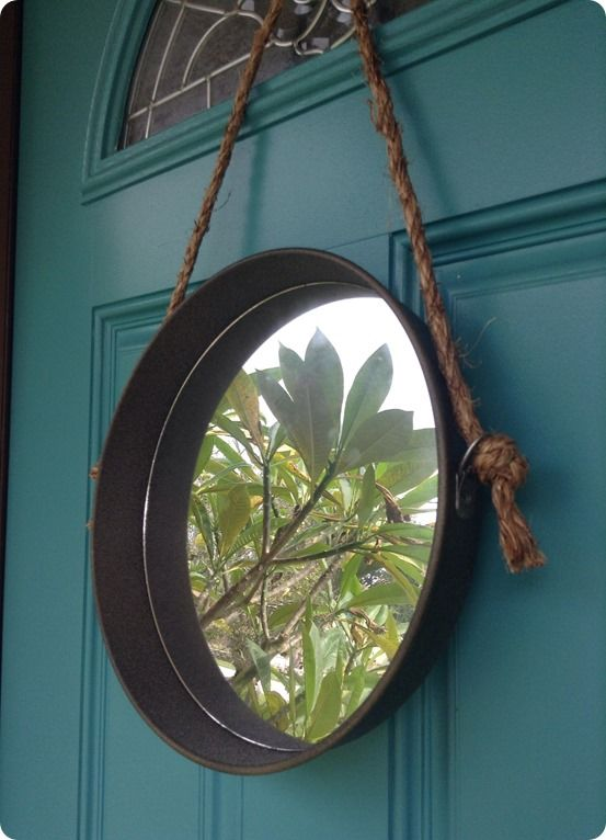 Metal and Rope Wall Mirror   Rope mirror, Knock off decor ...