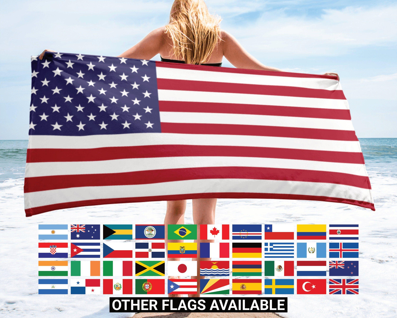 Custom Pool Towel Beach Towel Custom Greek Flag Towel Usa Flag