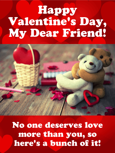 You Deserve Lots Of Love Happy Valentine S Day Card For Friends Birthday Greeting Cards By Davia Happy Valentines Day Wishes Valentines Day Greetings For Friends Happy Valentines Day Card
