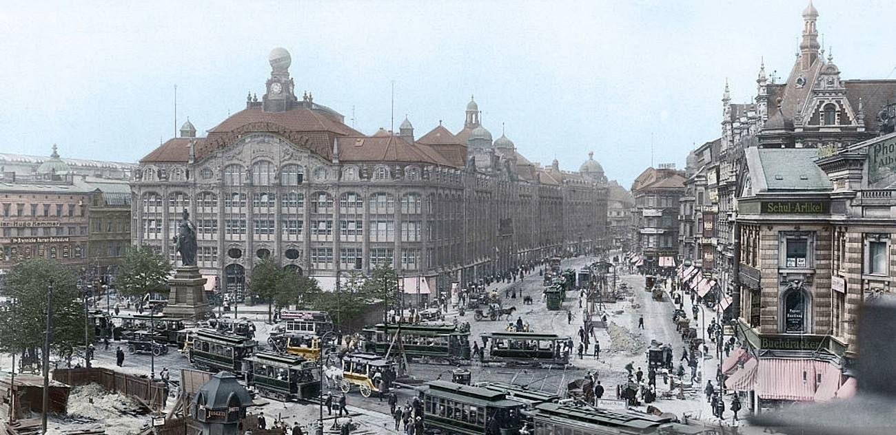 Berlin Warenhaus Tietz Am Alexanderplatz Um 1912 Berlin Bilder Berlin Geschichte