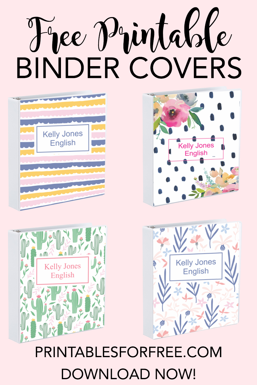 Free Printable Binder Covers Make Your Own Binder Covers With This Free Printable Binder Cover Templates Binder Covers Printable Editable Binder Covers Free