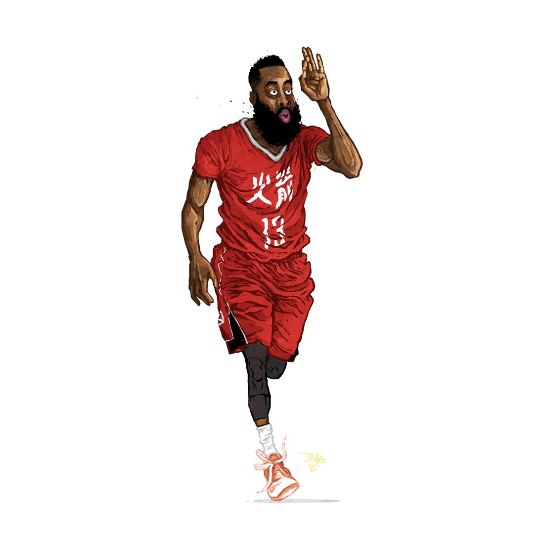 Justin Manzana Nba Basketball Art Nba Art Nba Sports