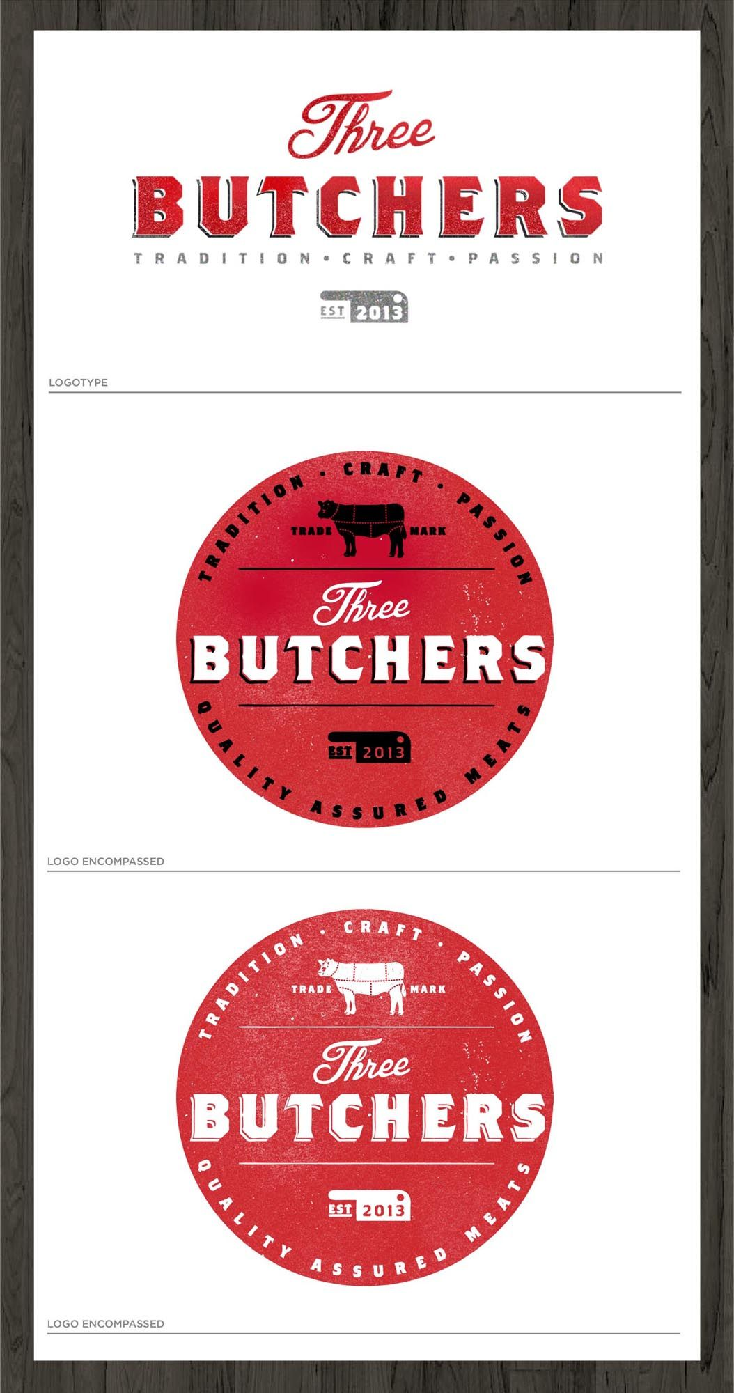 Stewdeane created this logo for Three Butchers an online