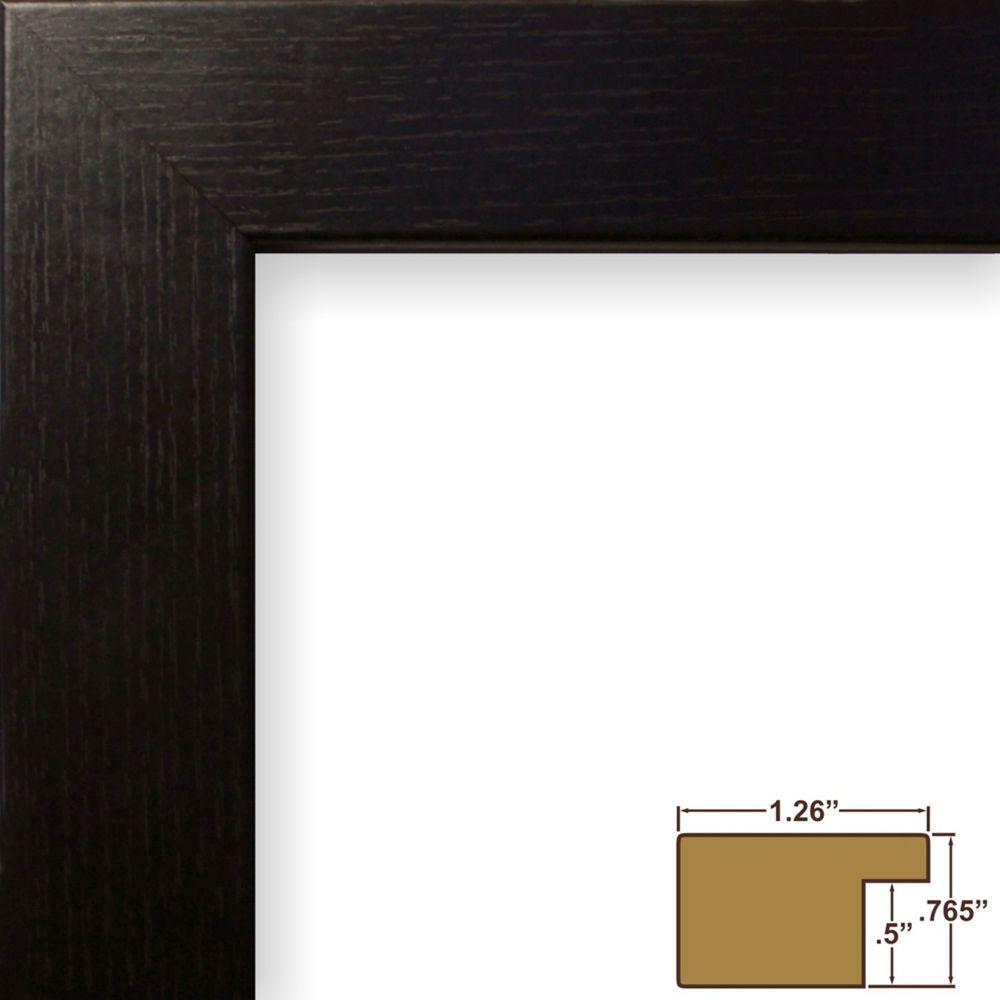 Picture Frame Poster Frame 1 25 Gloss Black Paint Wood Grain Wall Decor 26062 Craigframesinc Modern Modern Picture Frames Craig Frames Picture Frames