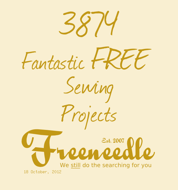Freeneedle is a directory of the best free sewing patterns and projects online
