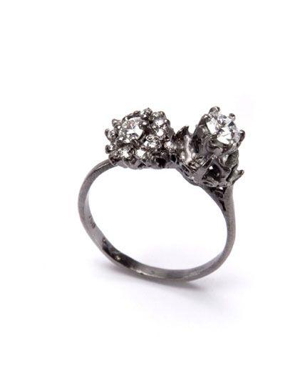 julia deville white gold old diamonds jewellery Pinterest