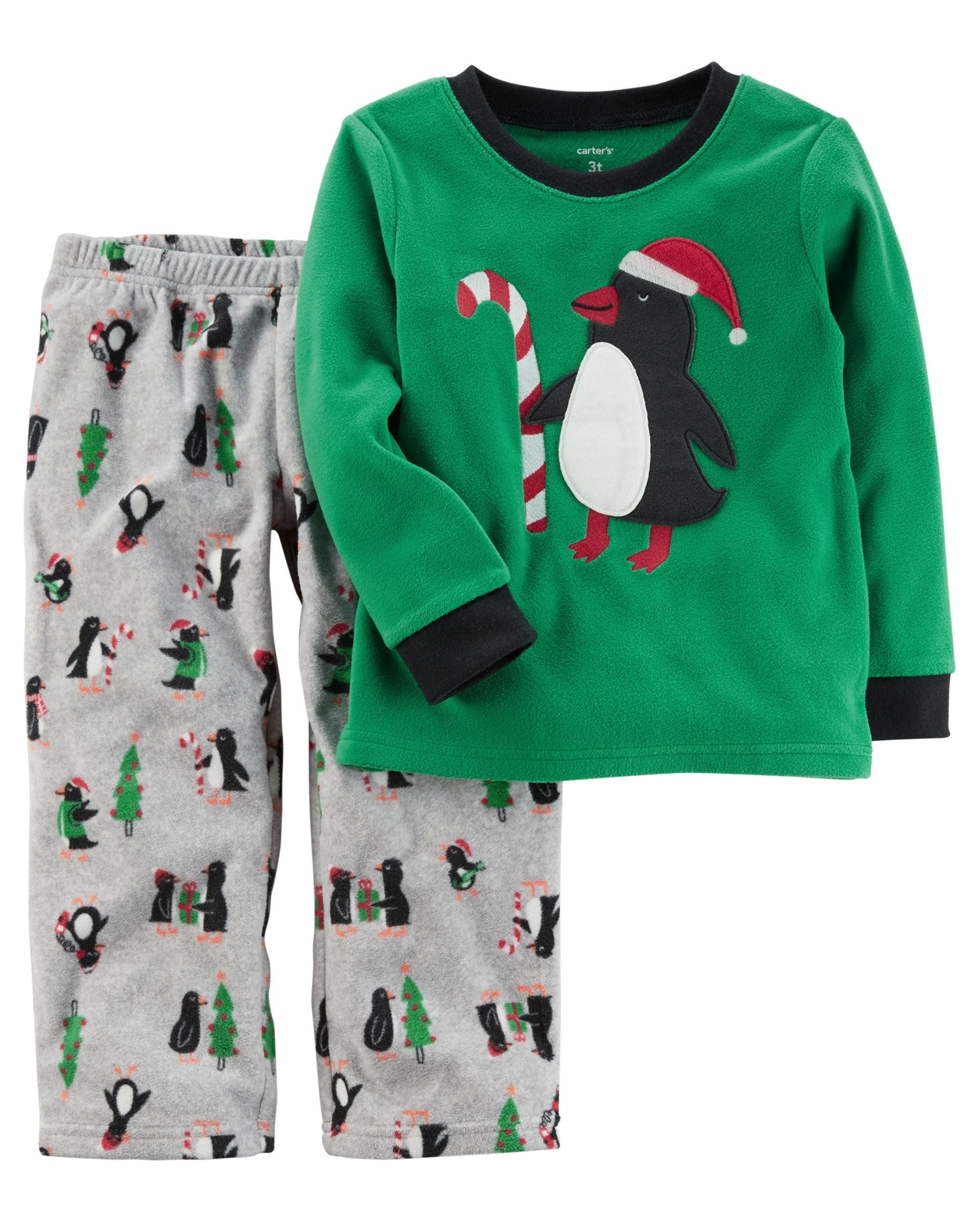 2-Piece Christmas Fleece PJs | Carters baby boys, Toddler ...