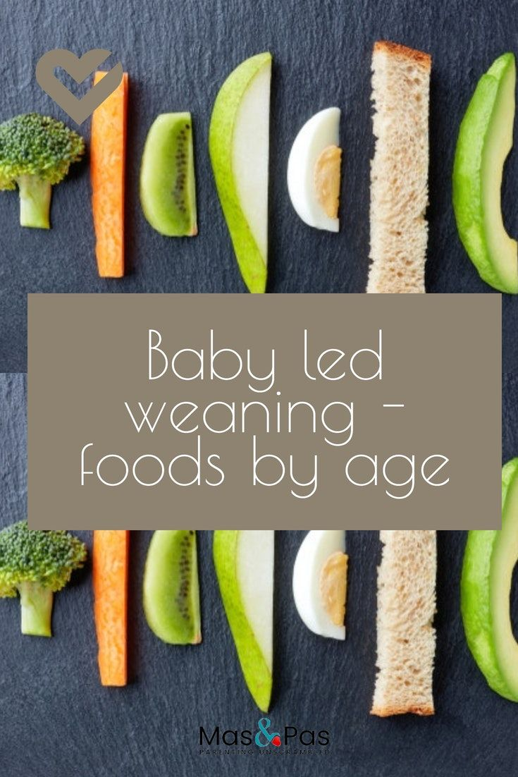 The best foods for baby led weaning