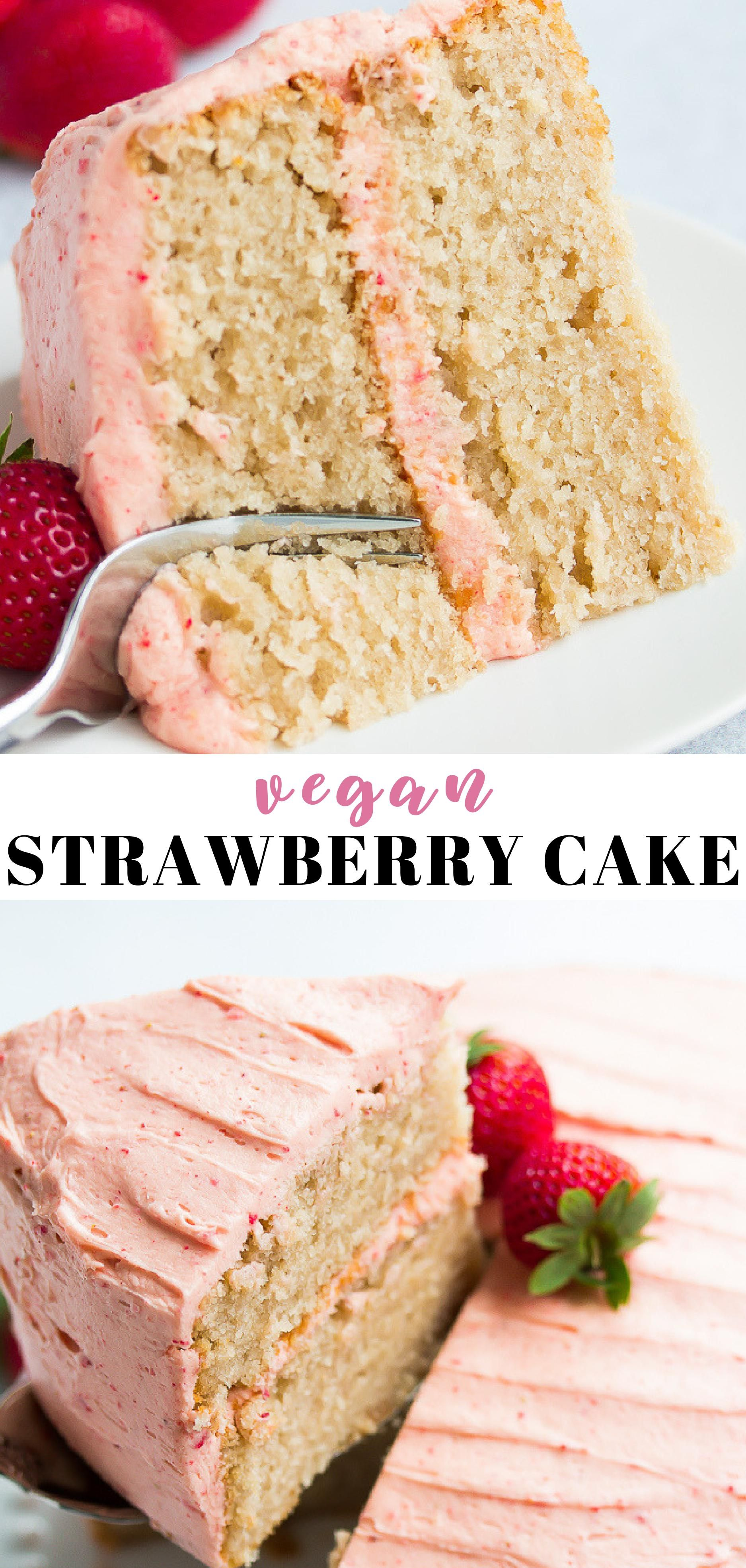 Photo of Vegan Strawberry Cake
