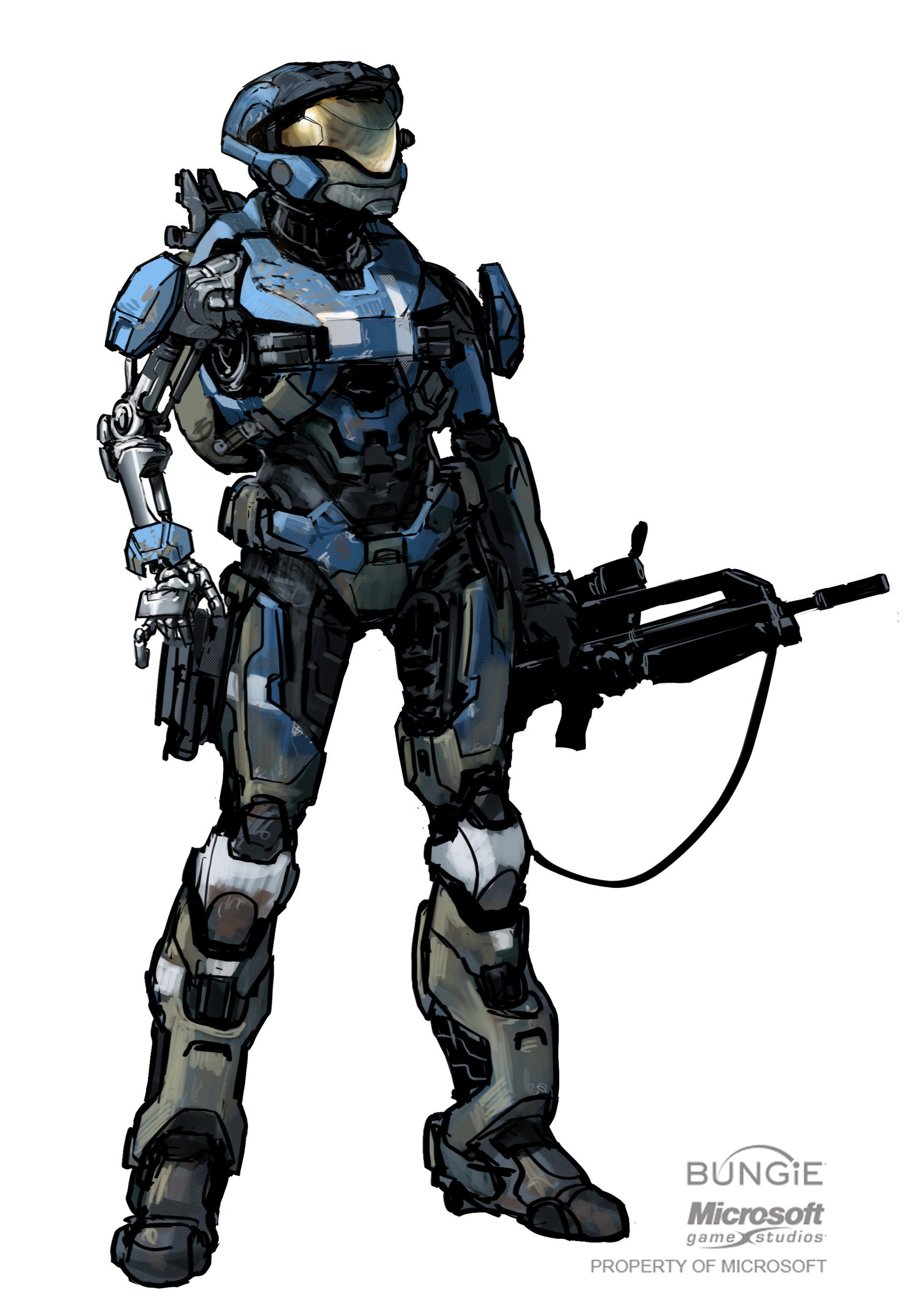 How To Draw Halo Reach Characters | www.pixshark.com ...