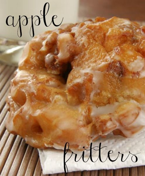 Yummy apple fritters! Apple fritter recipes, Dessert