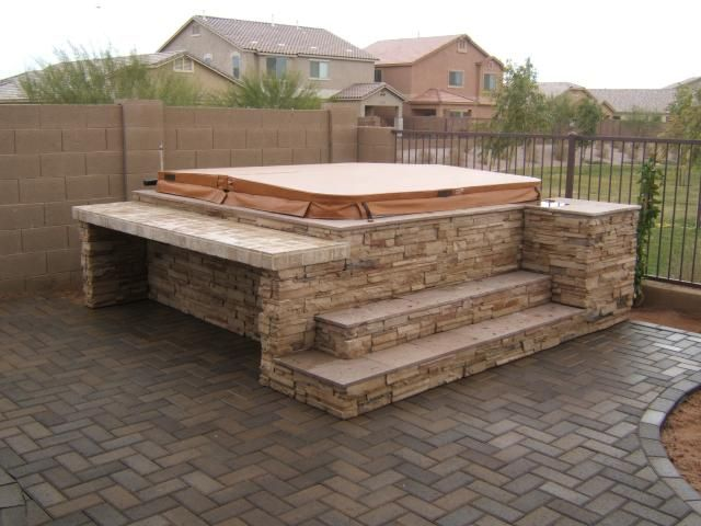 Hot Tub Landscaping Surround What Is The Cost Of A Spa