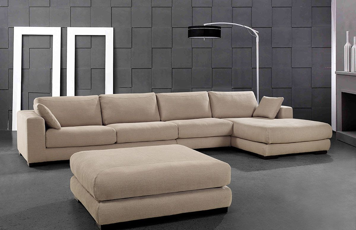 Senza   Modern Beige Fabric Sectional