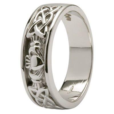 Mens Claddagh Wedding Ring SM14IC11  Wedding  Irish
