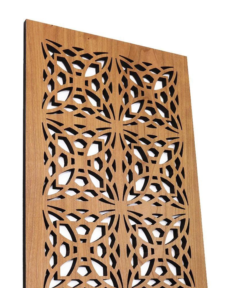 Frank Lloyd Wright Luxfer Prism Art Screen Wood Wall Panel