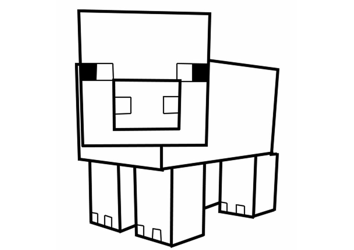 Pig High Quality Free Coloring From The Category Minecraft More Printable Pictures On Our Webs Fairy Coloring Pages Minecraft Coloring Pages Coloring Pages