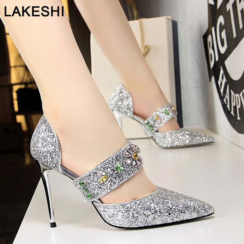 269891b9172468 Bigtree Shoes Women Pumps Fashion High Heels Women Shoes Crystal Party  Shoes New Women Sandals Gold Wedding Shoe Women Stiletto