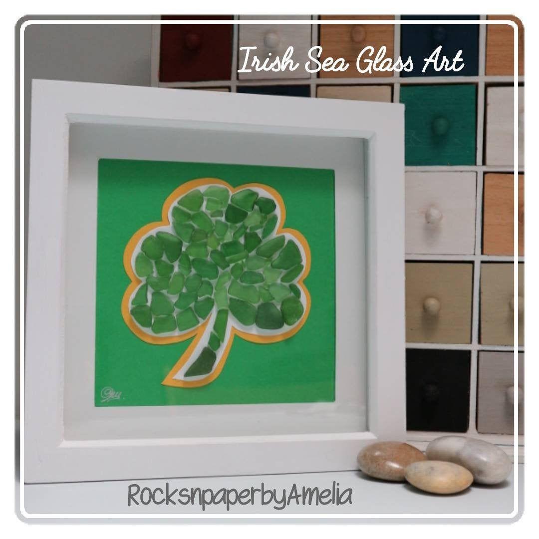 Irish Heritage Christmas Gifts 2020 Irish Sea Glass Shamrock Green Art St Patrick's day | Etsy in 2020